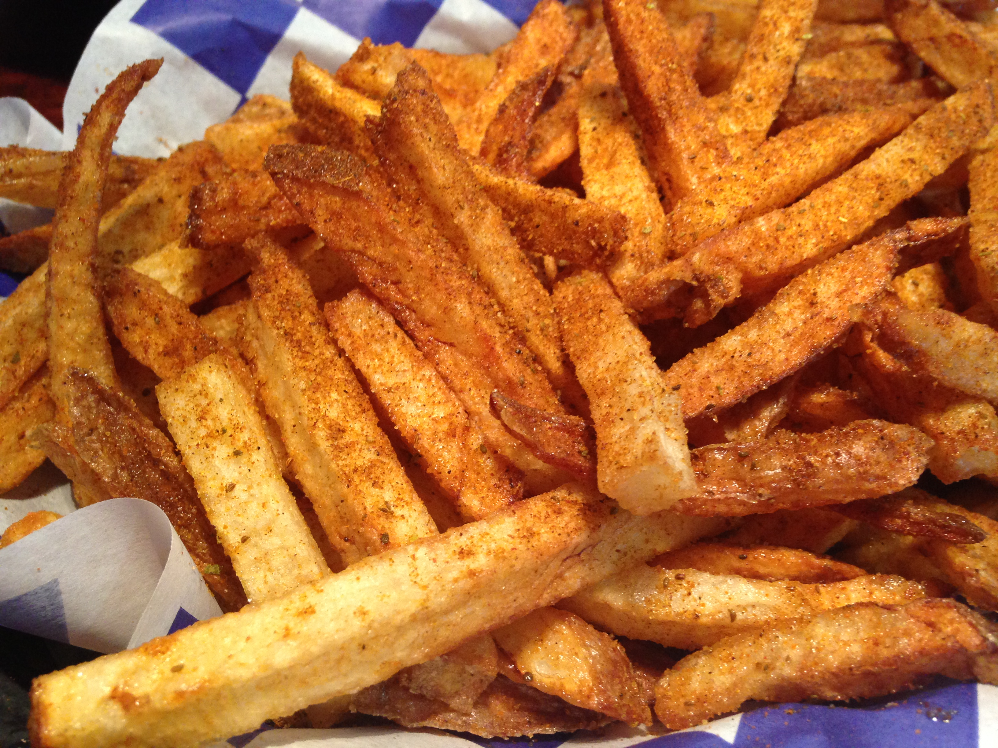 you're loading up on wing flavors, a simple order of Old Bay fries ...
