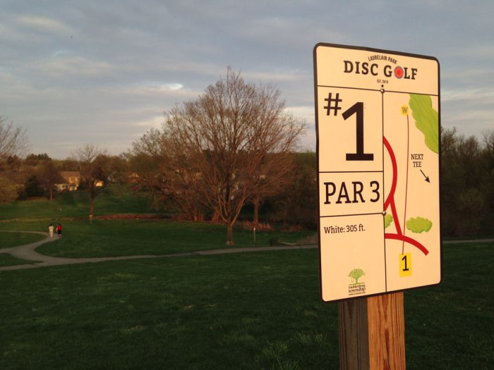 Hole #1 at Laurelain Park Disc Golf
