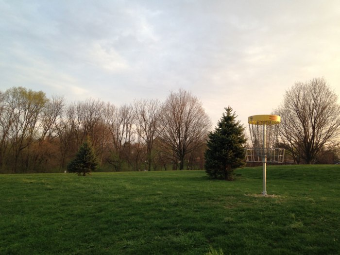 Hole #9 at Laurelain Park Disc Golf