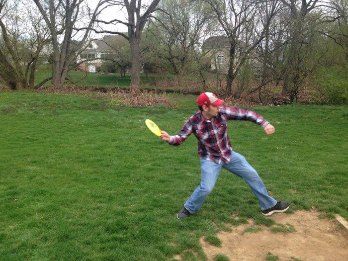 Disc Golfing at Laurelain Park in Muhlenberg Township