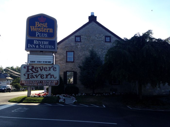 Revere Tavern, a historic restaurant attached to the Best Western in Paradise, Pa.
