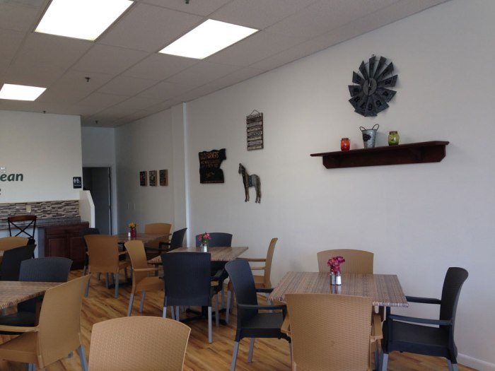 The dining area of the Green Bean Cafe