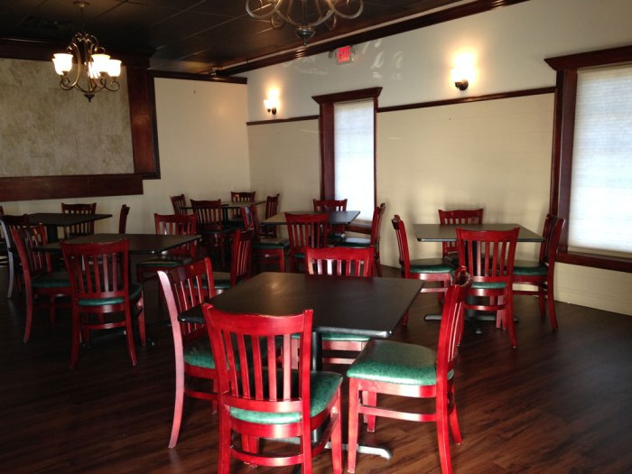The dining areas look much the same as they did when Basil Restaurant and Pizzeria operated at the same location.
