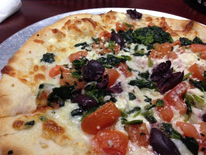 The Spanako pizza from Sophia's Italian Restaurant & Pizzeria, Reading, Pa.