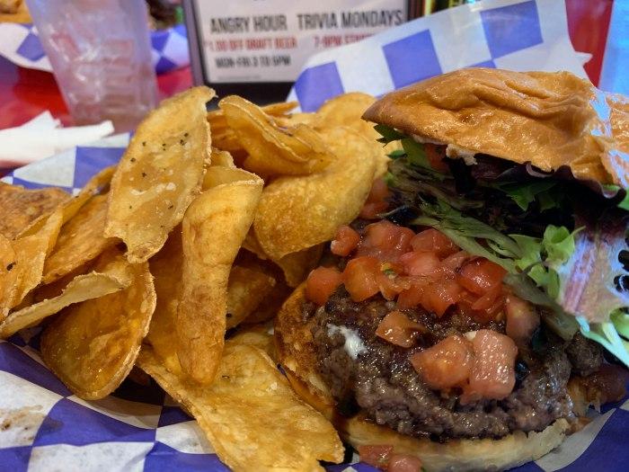The Angry Anvil Balsamic Bleu Burger